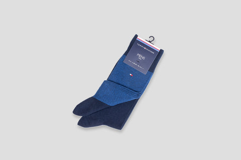 Tommy Hilfiger 2-Pack Micro Print Socks in Blue & Navy - Smyth & Gibson Shirts