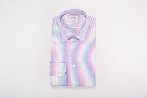 Smyth & Gibson S.W.E. Non Iron Multi-Stripe Slim Fit Shirt in Pink & Blue