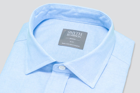 Smyth & Gibson Plain Oxford Shirt in Light Blue - Smyth & Gibson Shirts