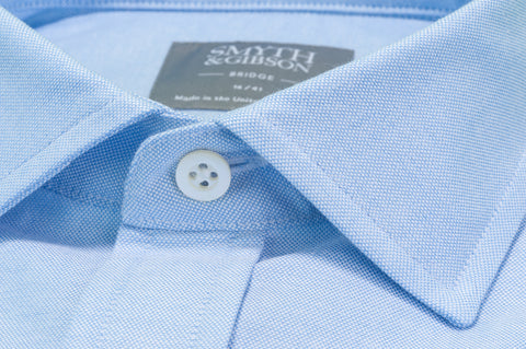 Smyth & Gibson Plain Oxford Shirt in Light Blue