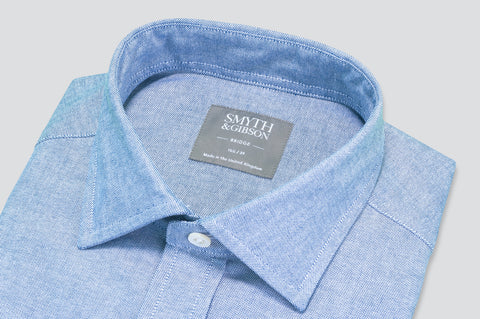 Smyth & Gibson Plain Oxford Shirt in Blue - Smyth & Gibson Shirts