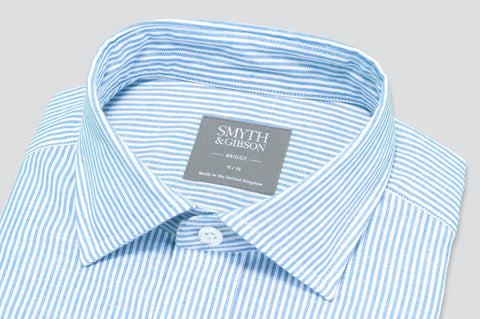 Smyth & Gibson Oxford Bengal Stripe Shirt in Light Blue - Smyth & Gibson Shirts