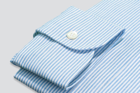 Smyth & Gibson Oxford Bengal Stripe Shirt in Light Blue