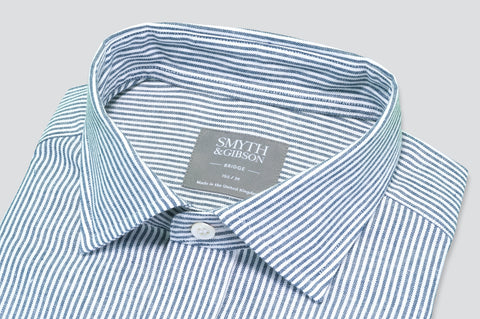 Smyth & Gibson Oxford Bengal Stripe Shirt in Navy - Smyth & Gibson Shirts