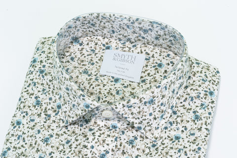 Smyth & Gibson Floral Print Tailored-Short Fit Shirt in Pink - Smyth & Gibson Shirts