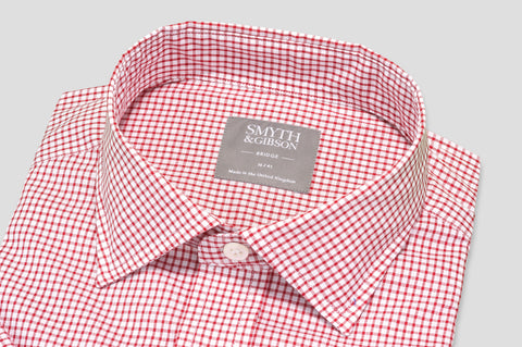 Smyth & Gibson Short Sleeve Gingham Check Shirt in Red - Smyth & Gibson Shirts