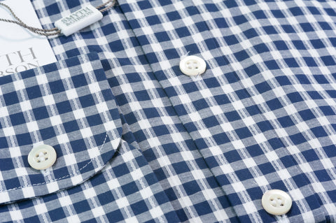 Smyth & Gibson Gingham Check Raised Stripe in Navy