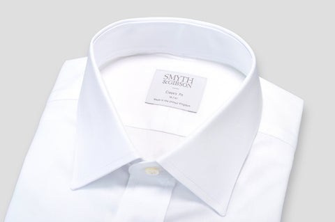 Smyth & Gibson Plain Twill Classic Fit Shirt in White