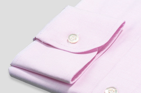 Smyth & Gibson Micro Panama Tailored Fit Shirt in Pink