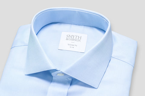 Smyth & Gibson Royal Oxford Tailored Fit Shirt In Sky Blue