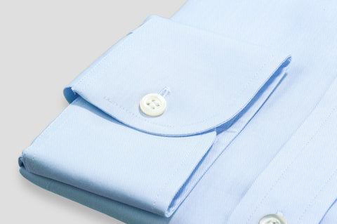 Smyth & Gibson Plain Twill Tailored Fit Shirt In Sky Blue