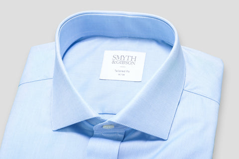 Smyth & Gibson Traveller Oxford Tailored Fit Shirt in Sky Blue - Smyth & Gibson Shirts