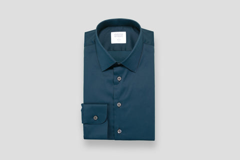 Smyth & Gibson Stretch Poplin Slim Fit Shirt in Navy