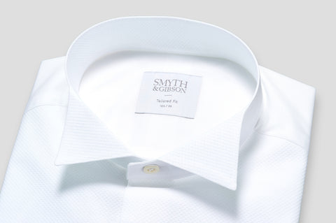 Smyth & Gibson Marcella Wing Collar Dinner Shirt in White - Smyth & Gibson Shirts