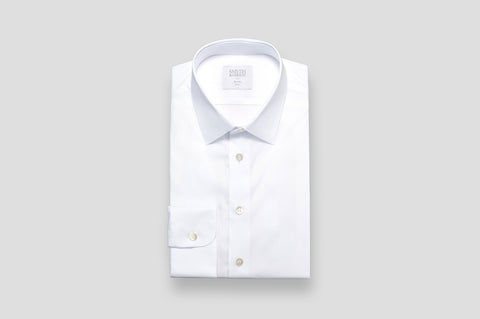 Smyth & Gibson Stretch Poplin Slim Fit Shirt in White