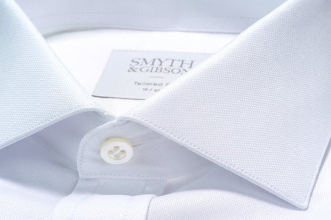 Smyth & Gibson Royal Oxford Tailored Fit Shirt In White
