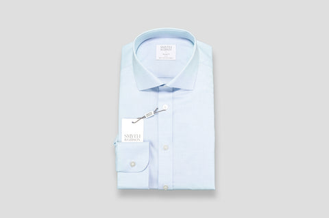 Smyth & Gibson Pin Check Dobby Tailored Fit Shirt in Blue