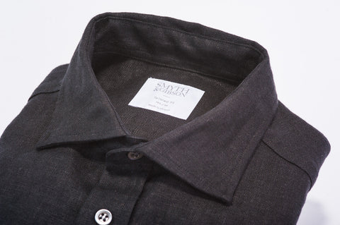 Smyth & Gibson 100% Heavy Irish Linen Shirt in Black - Smyth & Gibson Shirts