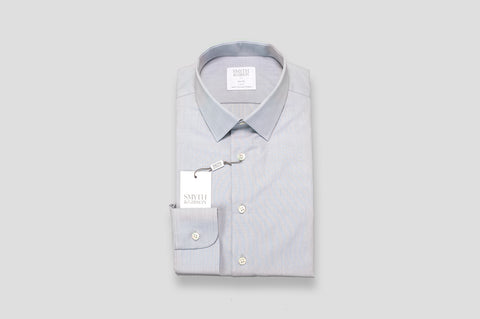 Smyth & Gibson End-On-End Slim Fit Shirt in Grey