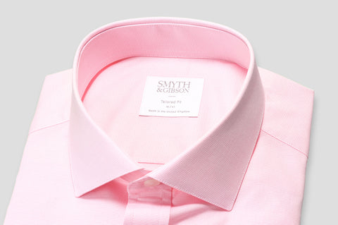 Smyth & Gibson Micro Check Tailored Fit Shirt in Pink