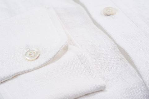 Smyth and Gibson 100% Irish Heavy Linen Shirt in White