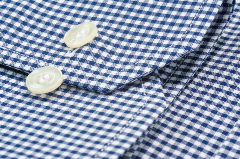 Smyth & Gibson Blast Twill Gingham Contemporary Fit Shirt in Navy