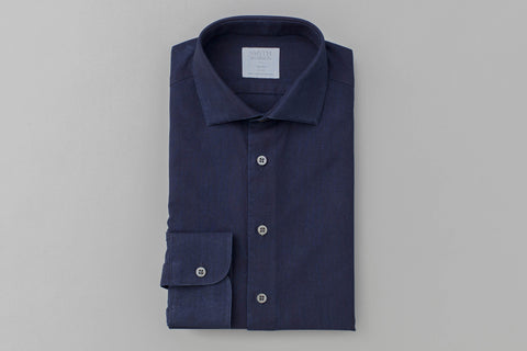 Smyth and Gibson Limited Edition Luxury Indigo Dyed Denim Shirt - Smyth & Gibson Shirts