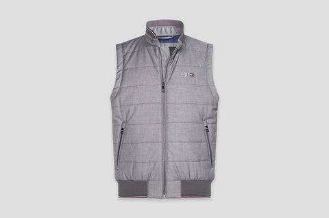 Tommy Hilfiger x Mercedes Benz Quilted Gilet in Grey