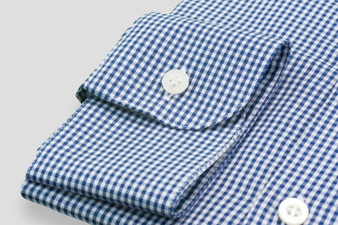 Smyth & Gibson Blast Twill Gingham Slim Fit Shirt in Navy