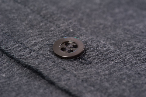 Smyth and Gibson Brushed Cotton Slim Fit Shirt in Charcoal