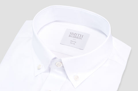 Smyth & Gibson Royal Oxford Button-Down Slim Fit Shirt in White - Smyth & Gibson Shirts