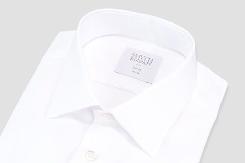 Smyth & Gibson Royal Twill Slim Fit Shirt in White - Smyth & Gibson Shirts