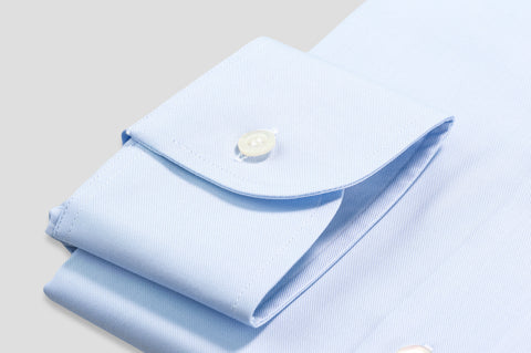Smyth & Gibson Royal Twill Slim Fit Shirt in Sky Blue