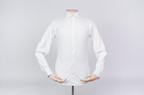 Smyth and Gibson Non-Iron Liberty Print Contrast Twill Slim Fit Shirt in White