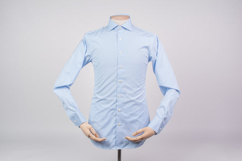 Smyth and Gibson Luxury Downing Bengal Stripe Tailored Fit Shirt in Blue