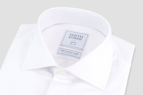 Smyth & Gibson S.W.E. Non Iron Marcella Slim Fit Dinner Shirt in White - Smyth & Gibson Shirts