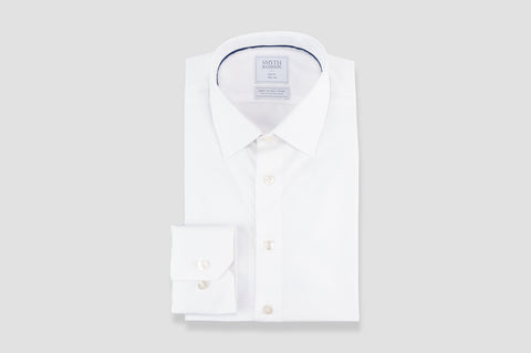 Smyth & Gibson S.W.E. Non-Iron Poplin Slim Fit Shirt in White
