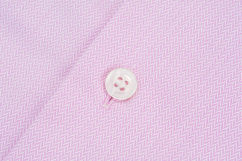 Smyth & Gibson S.W.E. Non Iron Herringbone Twill Slim Fit Shirt in Pink