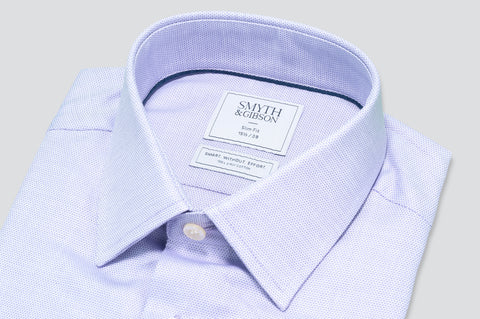 Smyth & Gibson S.W.E. Circle Weave Shirt in Lilac