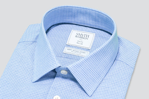 Smyth & Gibson Dashes Check Shirt in Blue - Smyth & Gibson Shirts