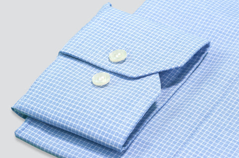 Smyth & Gibson S.W.E. Dashes Check Shirt in Blue