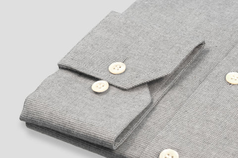 Smyth & Gibson S.W.E. Textured Brushed Cotton Shirt in Grey