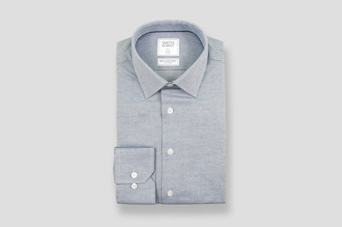 Smyth & Gibson S.W.E. Brushed Cotton Twill Shirt in Blue
