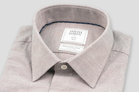 Smyth & Gibson S.W.E. Brushed Cotton Pin Check Shirt in Red - Smyth & Gibson Shirts