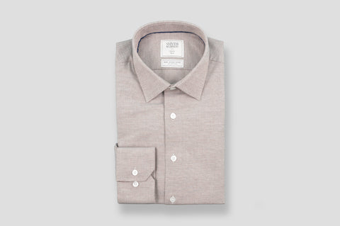 Smyth & Gibson S.W.E. Brushed Cotton Pin Check Shirt in Red
