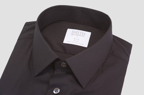 Smyth & Gibson Stretch Poplin Slim Fit Shirt in Black - Smyth & Gibson Shirts