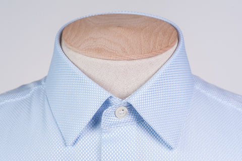 Smyth and Gibson Heavy Texture Slim Fit Shirt in Blue