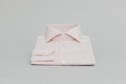 Smyth And Gibson Mens Non-Iron Plain Pink Poplin 100% Cotton Shirt