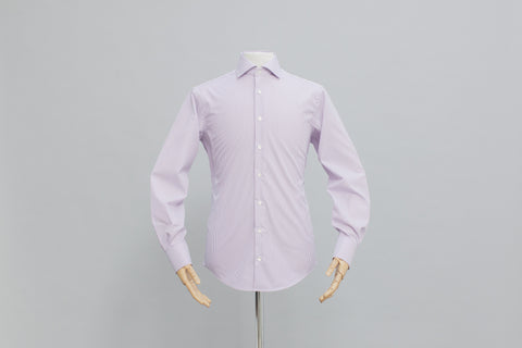 Smyth And Gibson Mens Non-Iron Purple Bengal Stripe 100% Cotton Shirt - Smyth & Gibson Shirts