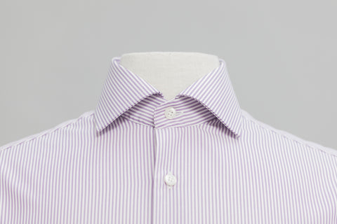 Smyth And Gibson Non-Iron Bengal Stripe Contemporary Fit Shirt in Purple - Smyth & Gibson Shirts